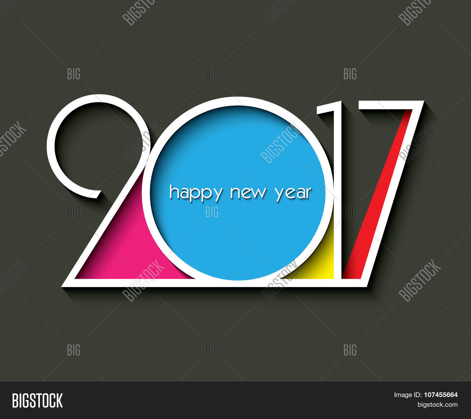 2017 new year creative design for your greetings card flyers invitation posters