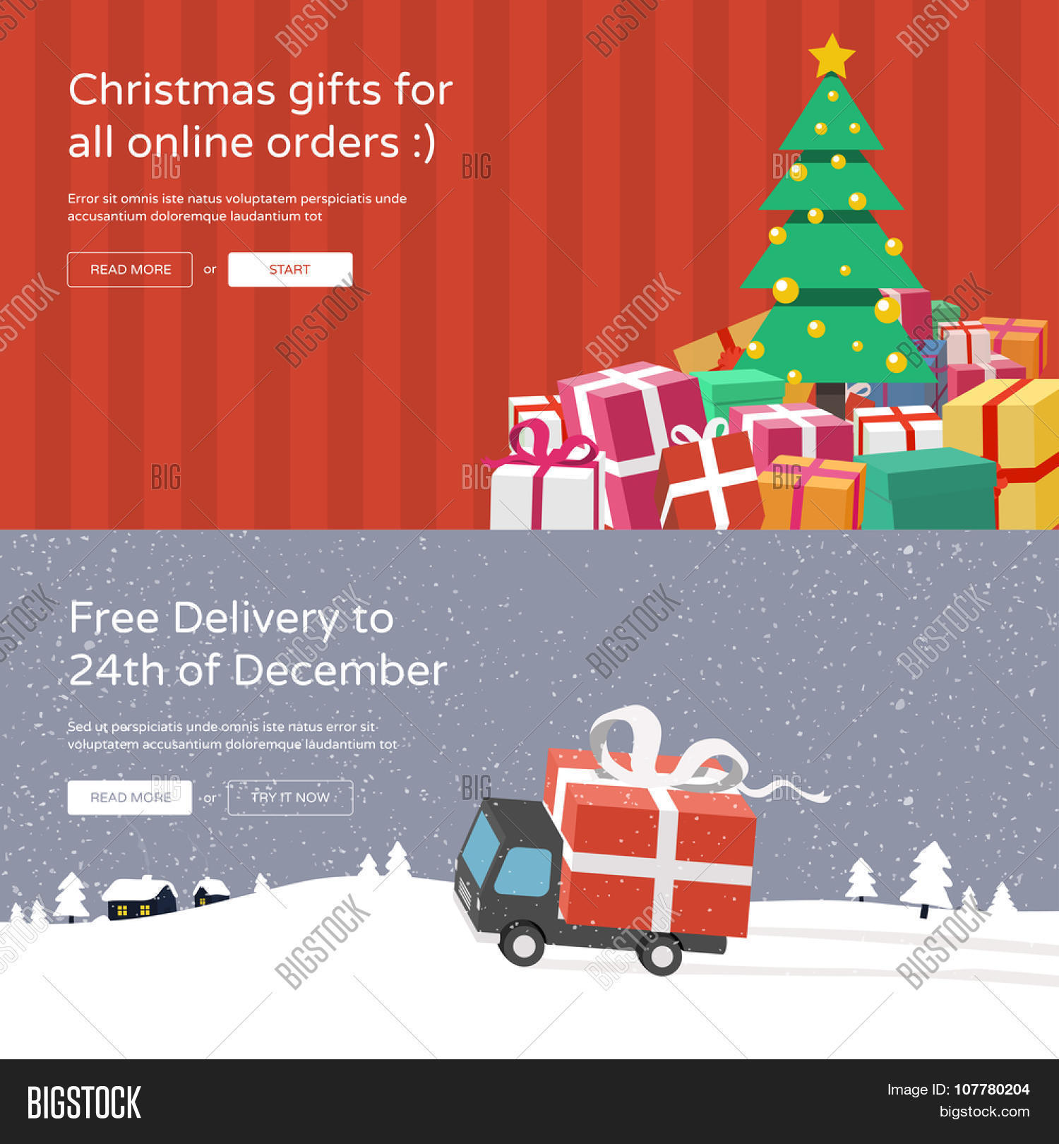 Christmas Website Vector & Photo (Free Trial) | Bigstock