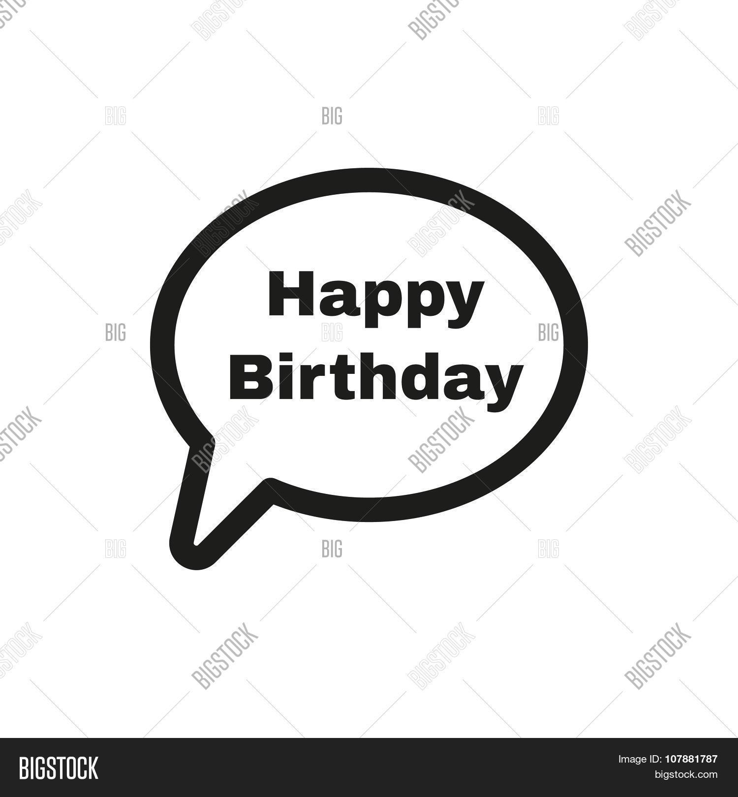 Speech bubble word happy birthday vector photo bigstock the speech bubble with the word happy birthday icon celebration and feast day buycottarizona