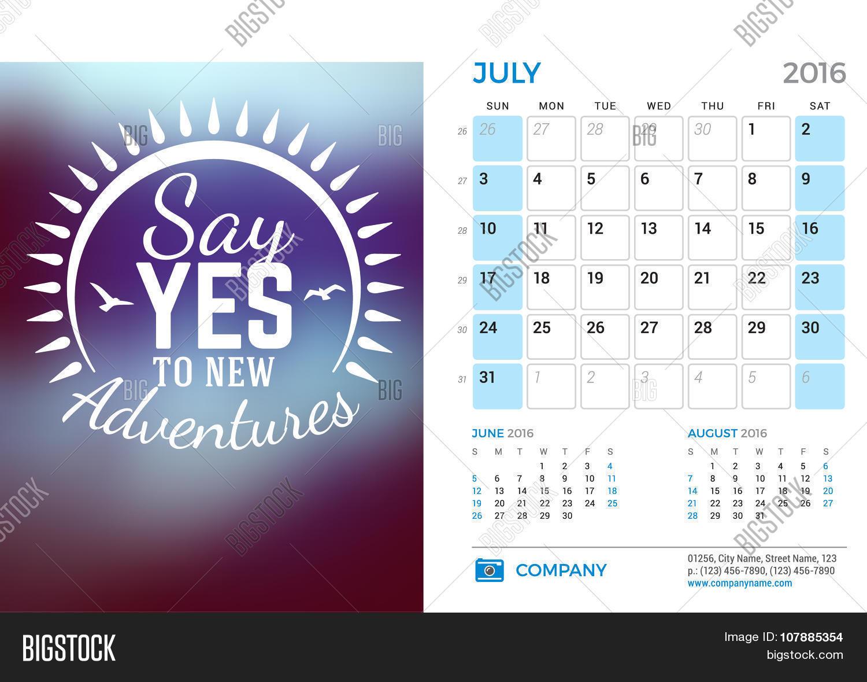 Calendar Design Quote : Desk calendar vector photo free trial bigstock