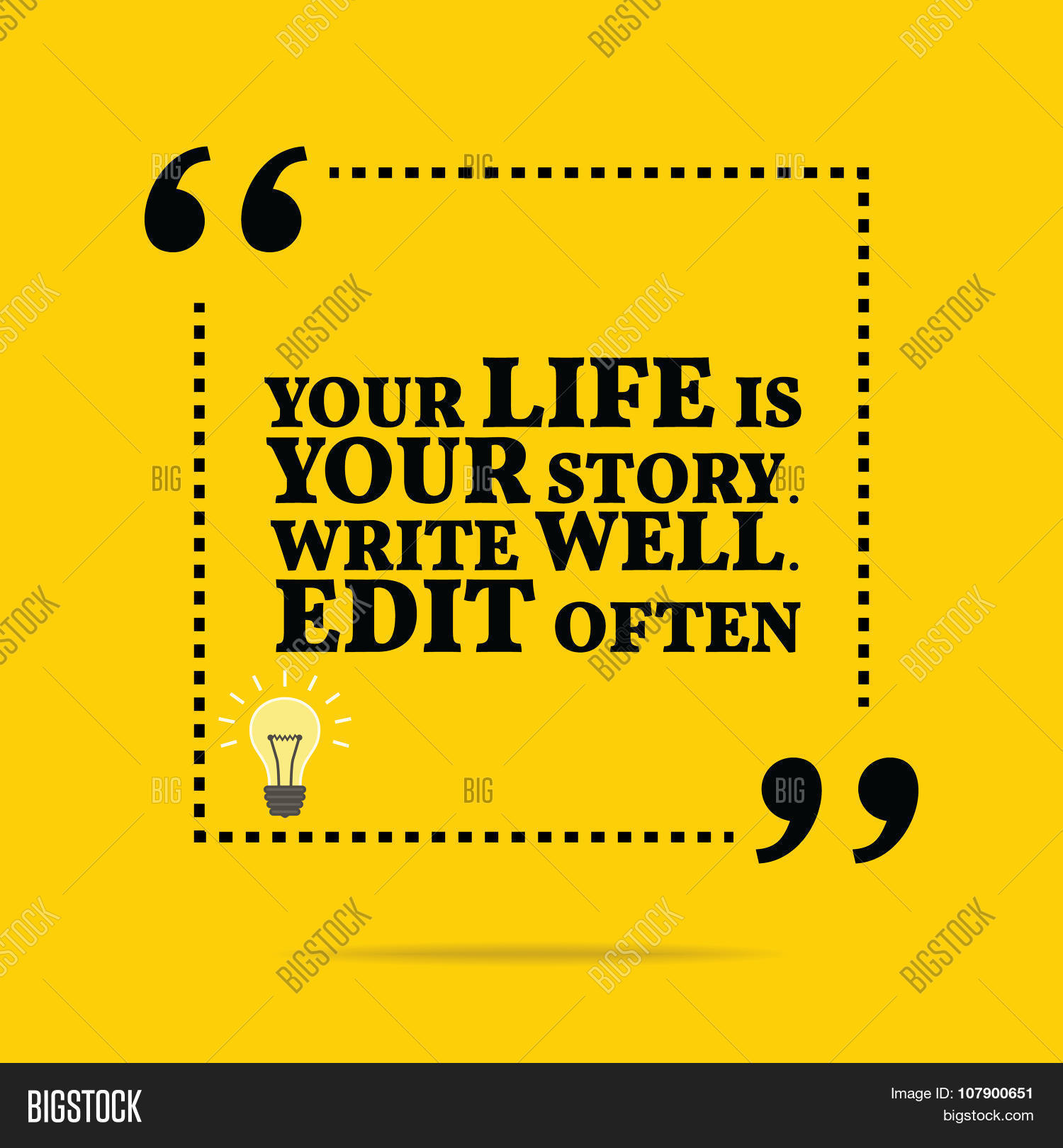 This Is Your Life Quote Inspirational Motivational Quotevector & Photo  Bigstock