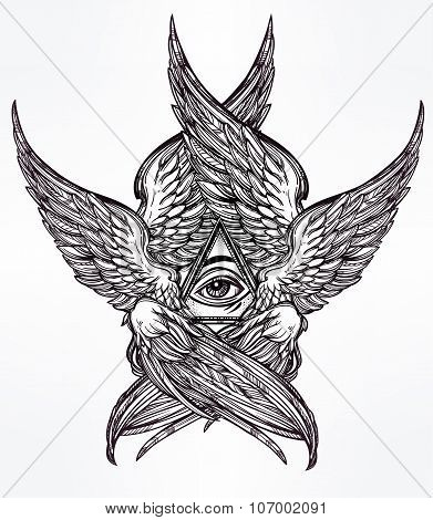 All seeing winged Eye of Providence.