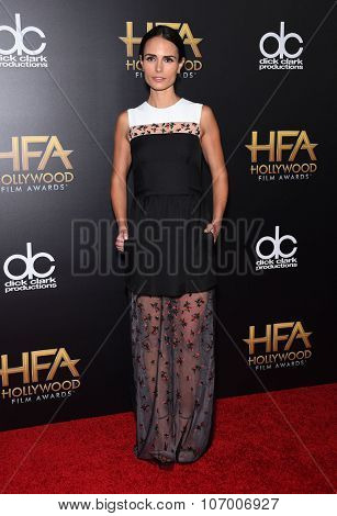 LOS ANGELES - NOV 1:  Jordana Brewster arrives to the Hollywood Film Awards 2015 on November 1, 2015 in Hollywood, CA.
