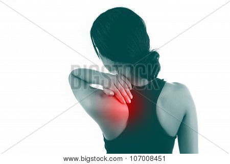 Young Female With Pain Back Pain And Neck Pain