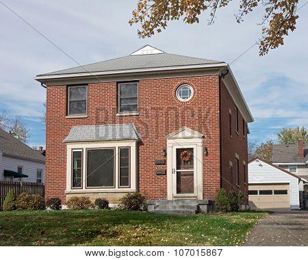 Empty Modest Brick House