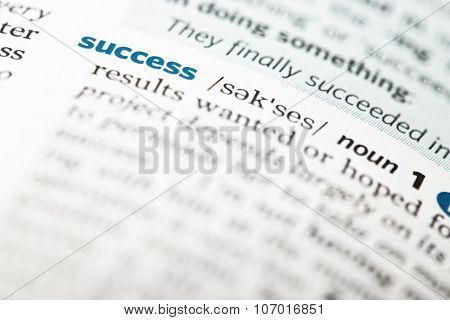 Dictionary Definition Of The Word Success