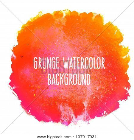 Watercolor isolated background.