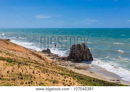 Rocks On The Beach In Jericoacoara, Brazil
