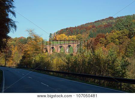Himbaechel viaduct in Beerfelden in the Odenwald (Hesse, Germany) poster
