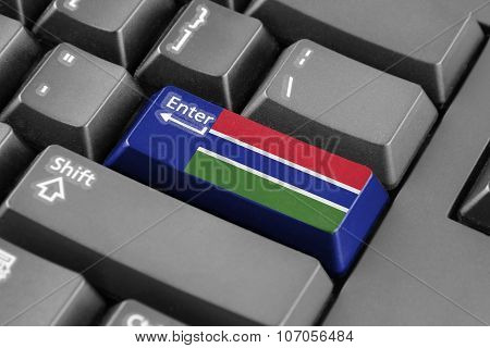 Enter Button With Gambia Flag