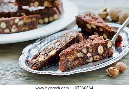 Panforte Mocca With Dried Fruits And Nuts Sweet Healthy Food
