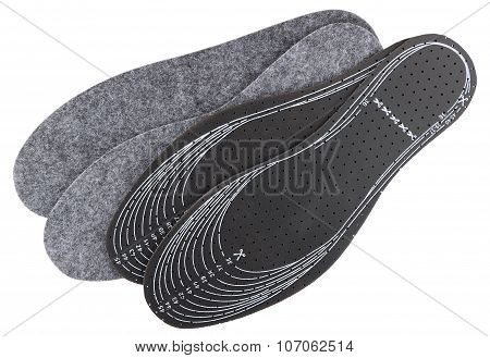 Two Pair Of Universal Insoles With Lines For Cutting