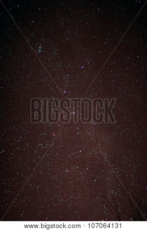 Starfield With Cassiopeia And Milky Way