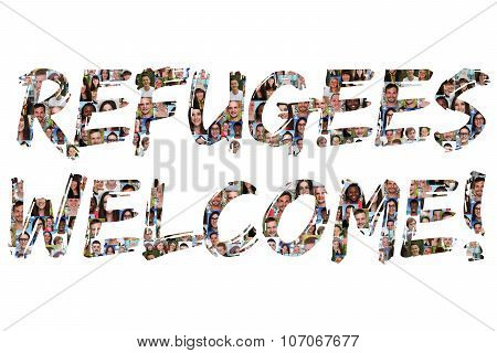 Refugees Welcome Group Of Young Multi Ethnic People