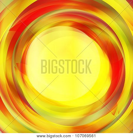 Abstract Red And Yellow Swirl Text Layout