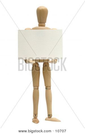 Sign Holding Mannequin