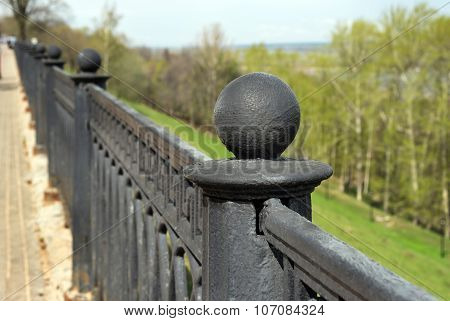 poster of Fencing of upper Volga embankment in Nizhny Novgorod. Russia