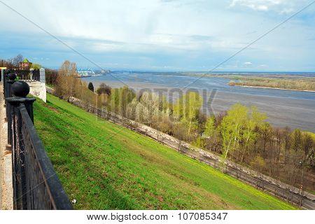Upper Volga embankment in Nizhny Novgorod. Russia poster