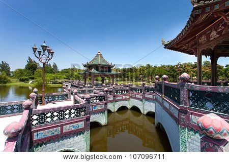 BANGKOK, THAILAND - JULY 30, 2015: Ancient Siam ( Ancient City, Mueang Boran) park, Sanphet Prasat P