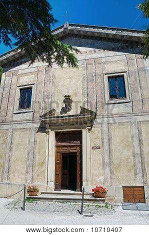 St. Croce della Foce. Gubbio. Umbria. Italy. poster
