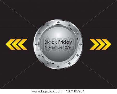 black friday background with metallic design, eps10