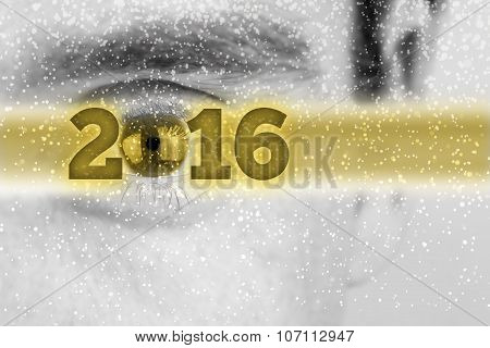 Creative 2016 New Year Background With The Date In A Golden Banner