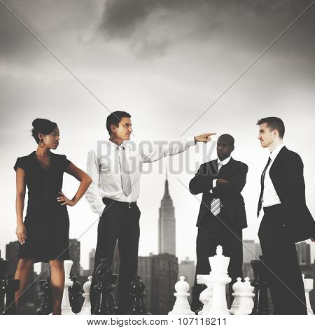 Business People Chess Argument Confrontation Concept