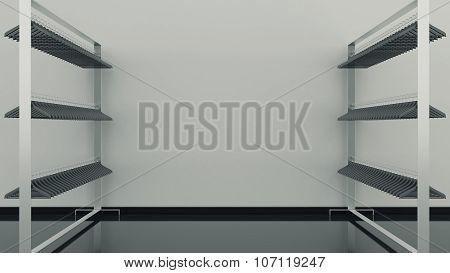 shelf clothes empty