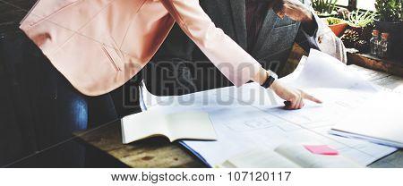 Interior Design Team Meeting Brainstorming Working Concept