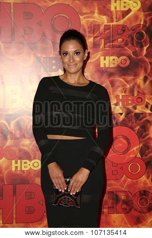 LOS ANGELES - SEP 20:  Angelique Cabral at the HBO Primetime Emmy Awards After-Party at the Pacific Design Center on September 20, 2015 in West Hollywood, CA