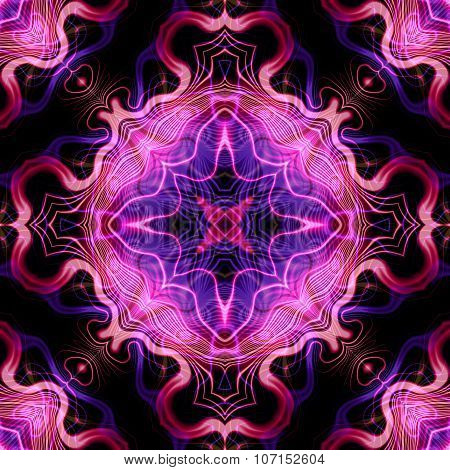Abstract magic purple glow - decorative pattern and shape