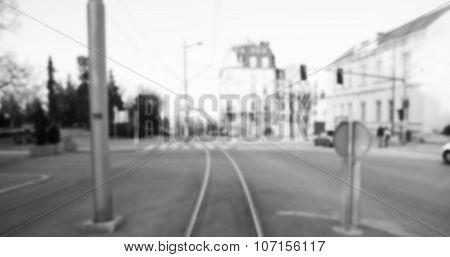 Old trolley tracks. Park  Kalemegdan. Belgrade. Serbia. poster