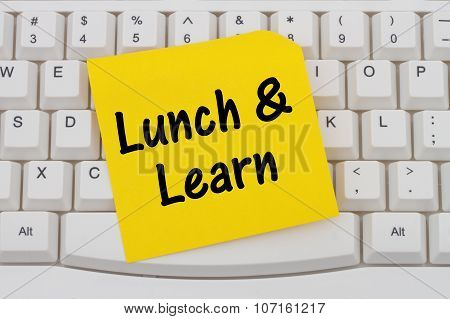 Lunch And Learn, Computer Keyboard And Sticky Note