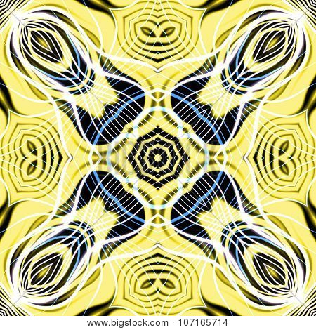 Abstract magic yellow glow - decorative pattern and shape