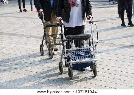 Elderly Couple On Street