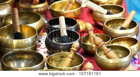Tibetan Bronze Singing Bowls