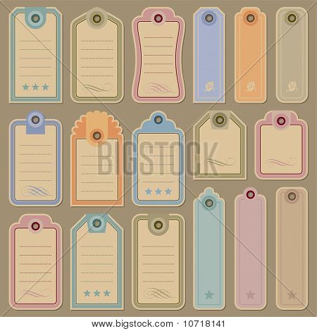 blank tags set (vector)