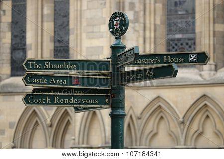 York, UK Street Sign