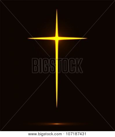 Glowing Cross Vector Illustration