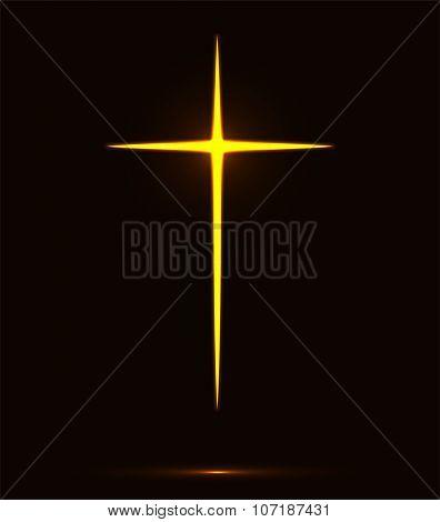Glowing Cross Vector Illustration