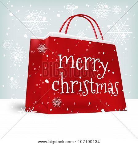 Merry Christmas shopping bag