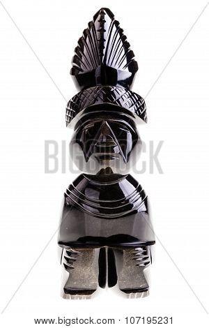 Aztec Obsidian Statuette