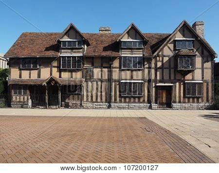William Shakespeare birthplace in Stratford Upon Avon UK poster