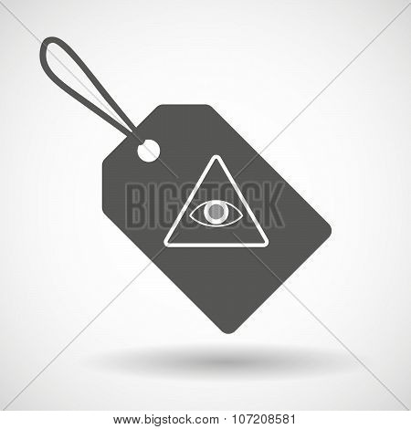 Label Icon With An All Seeing Eye