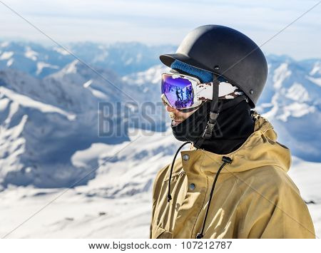 Portrait Of Snowboarderat Ski Resort