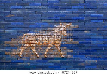 Aurochs from blue Ishtar Gate of Babylon