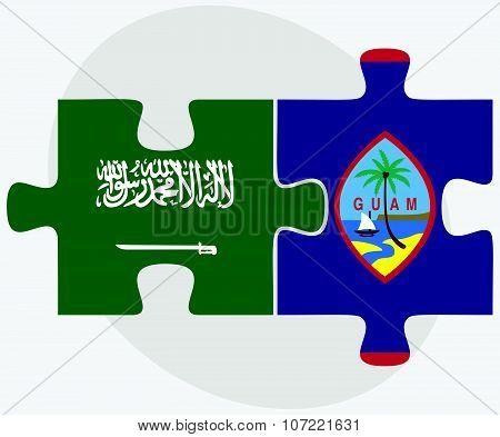 Saudi Arabia And Guam Flags