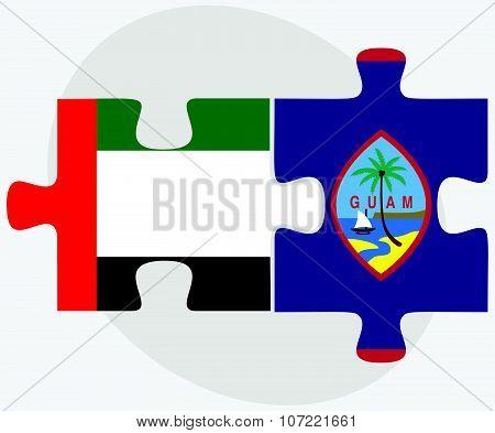 United Arab Emirates And Guam Flags