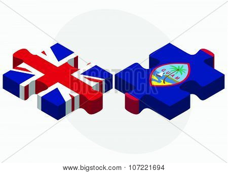 United Kingdom And Guam Flags