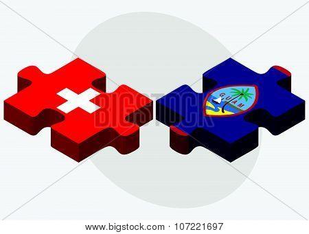 Switzerland And Guam Flags